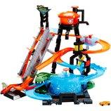 Hot Wheels Трек измени цвет водонапорная башня взрыв цветов Ultimate Gator Car Wash Play Set with Co