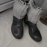 Кожаные сапоги ботинки туфли