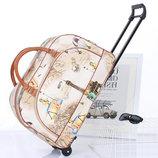 Модные дорожные сумки на колесах с принтами В Наличии