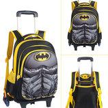 Супер рюкзак тележка в виде супермена,человека паука, бетмена В Наличии