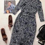 Phase Eight ажурное платье-футляр с драпировками на талии, р.12