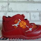 Кожаные ботинки с утеплителем PERLINA на девочку 24