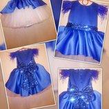 Яркое пышное детское платье выпускное,нарядное