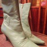 Сапоги кожаные деми сапожки ботинки черновики мешти ботильоны