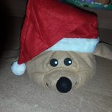 Новогодняя карнавальная шапка собака