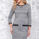 Красивое стильное платье в клетку Артикул 1045