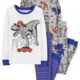 Набор из 2х хлопковых пижам для мальчика Carters динозавр рекс в городе