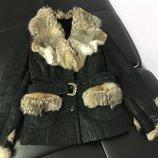 Дубленка натуральная , курточка зимняя