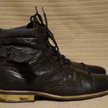 Темно-Коричневые высокие легкие кожаные ботинки Nushu Англия 44 р.
