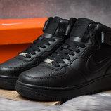 Зимние кроссовки Nike Air Force I, черные