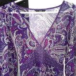 Утонченное шифоновое платье с красивым принтом f&f