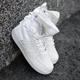 Белые мужские кроссовки nike air force high 41 42 43 44 45 размер