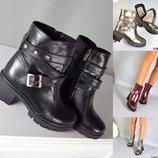 р. 36-40 Зима зимние ботинки сапоги сапожки Ботиночки натуральная кожа