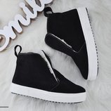 е2386 Зимние ботиночки из натурального замша 36-40 р
