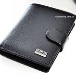 Кожаный мужской кошелек IMPERIAL HORSE бренд. Бумажник оригинал. Кожаное портмоне на подарок.