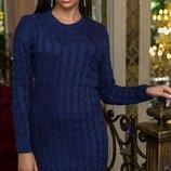 Платье машинная вязка. 42-46