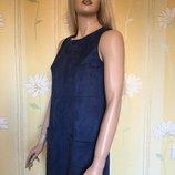 Платье сарафан трапеция под замшу new look размер 6/8