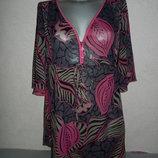 14/M-L/46-48 TU,Англия фиолетовая пляжная туника платье парео новая