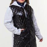 Толстовка удлиненная кофта-пальто трехнитка с начесом хл размеры 48-54скл.1 арт. 46612