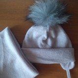 шапки ангора і хомут 0-6 р. в асортименті