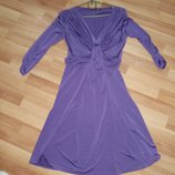 Фиолетовое платье миди,р-р с-м