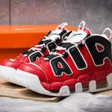 Кроссовки Nike Air Force I, красные 36,37,38,39,40,41,42 размер, кожа, унисекс, подростковые, супер