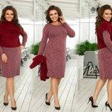 платье жилет Ткань ангора софт, трикотаж вязка ворсистая длина платья-100, длина рукава-60