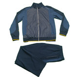 Мужской спортивный костюм Billcee тёмно-синий с желтыми кантом N2350