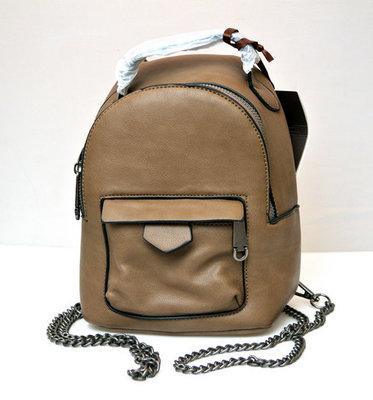 eb2316f878a7 Молодежный модный рюкзак подросток девочка коричневый Melas 4041-4 ...