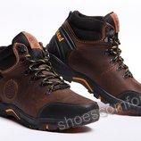 Кожаные зимние ботинки Timberland Pro Series Nubuck Brown M - 129 / 6