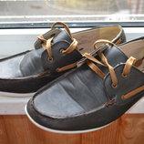 стильные мужские туфли Next 29.5 см 44 размер uk10 широк нога