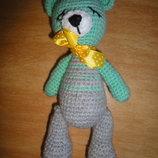 игрушка ручной работы вязаная крючком мишка медведь мягкая