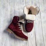Акция Мега крутые кожаные женские демисезонные или зимние ботинки Высокое качество