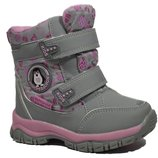 Сноубутсы Том.м арт.3979-K penguin, серо-розовые Зимние ботинки для девочек.