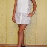 Белое платье туника в форме рубашки Gucci