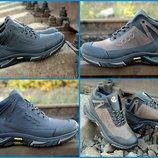 Мужские зимние ботинки кроссовки Ecco супер крепкие, на шерсти Топ продаж