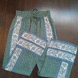 Размер М Красивые оригинальные фирменные натуральные пижамные домашние штаны