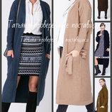 42-48, Длинный прямой кардиган - пальто. Вязаный кардиган женский. Жіночий кардиган
