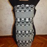 платье котоновое на подкладке плотное стильное модное р14