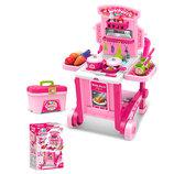 Кухня детская игровая 008-927 на колесах . 3 в 1