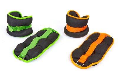 Спортивные утяжелители-манжеты для рук и ног 7208-4 2 утяжелителя по 2кг