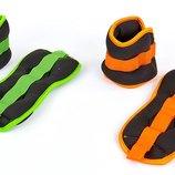 Спортивные утяжелители-манжеты для рук и ног 7208-2 2 утяжелителя по 1кг