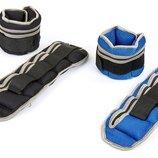 Утяжелители манжеты для рук и ног наборные 7209-4 вес 2x2кг