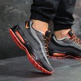 Кроссовки мужские Nike Air Max 95 gray/orange