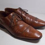 Отличные мужские кожаные туфли Angelo Litrico Albania 44 размер, стелька 30 см. Туфли в отличном с