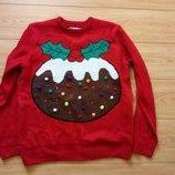свитер Новогодний светится Л-Ка