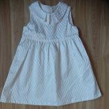 Новое нарядное фирменное платье h&m малышке 1-1,5 года
