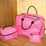 Сумки набор розовый