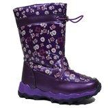 Дутики Том.м арт.2042-G, фиолетовый Зимние сапожки для девочек.