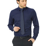 мужская рубашка синяя LC Waikiki / Лс Вайкики